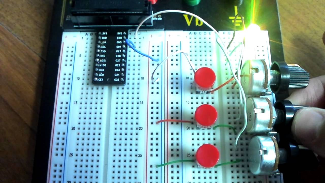 Rgb Led With Variable Resistors Youtube Resistor Circuit