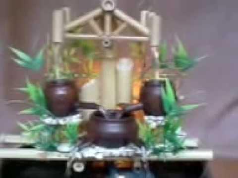 PANCURAN AIR kerajinan air mancur dari bambu  YouTube