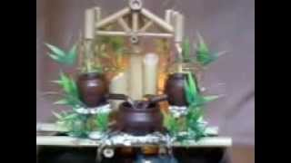 PANCURAN AIR  kerajinan air mancur dari bambu