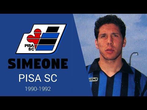 Simeone en el Pisa. Primer equipo en Europa del Cholo. Años 1990-1992