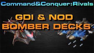 C&C Rivals, Nod and GDI Bomber Decks!