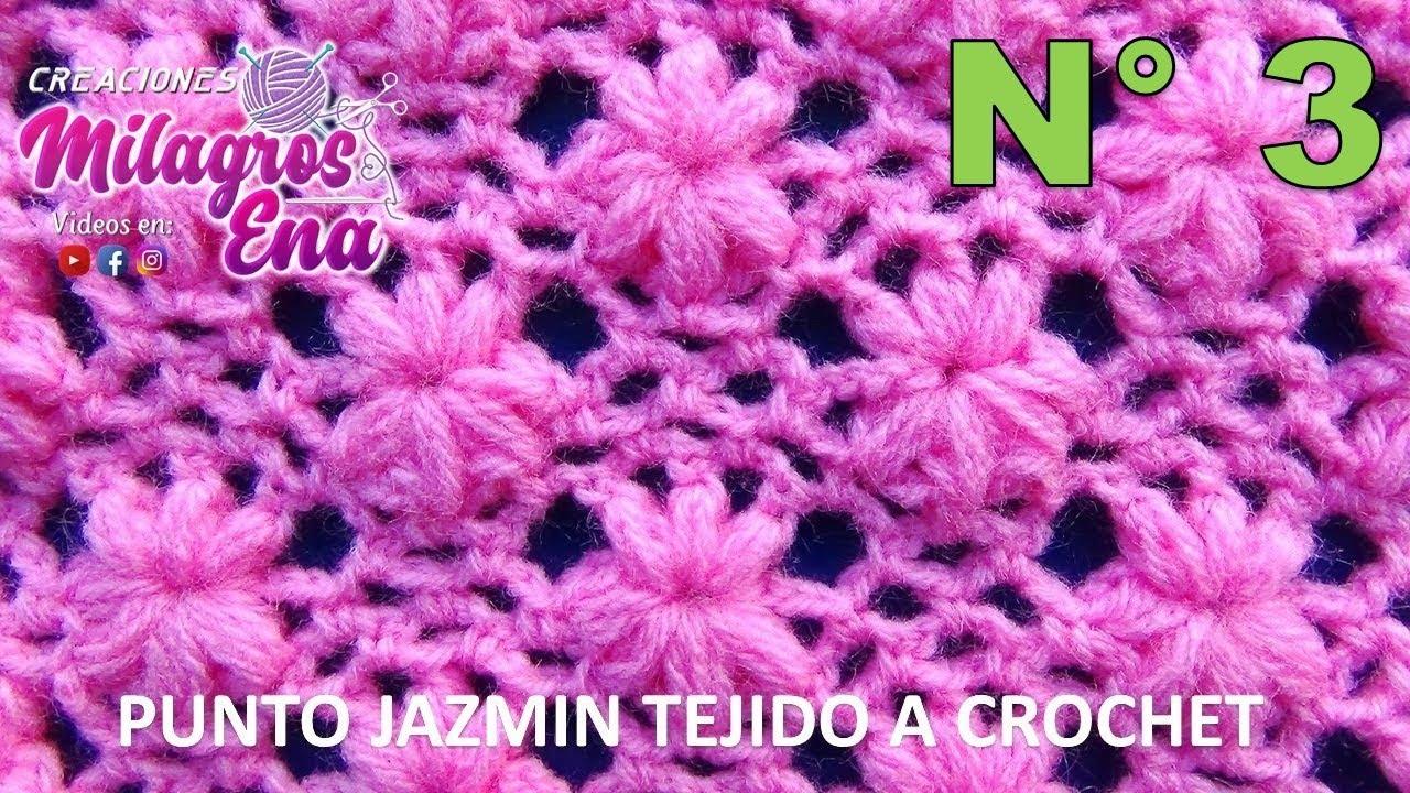 Punto Flores Jazmín Tejido A Crochet Para Colchitas De Bebe Points Crocheted Youtube