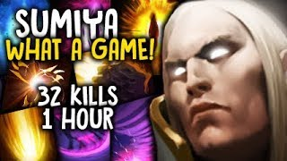 Sumiya WHAT A GAME! GOD Invoker 1 Hour+ 32 Kills Dota 2 7.06