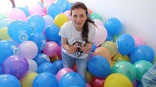 600 Balon Patlatıp İçinden Sürpriz Oyuncakları Bulmaca Challenge Barbie Moj Moj Bidünya Oyuncak