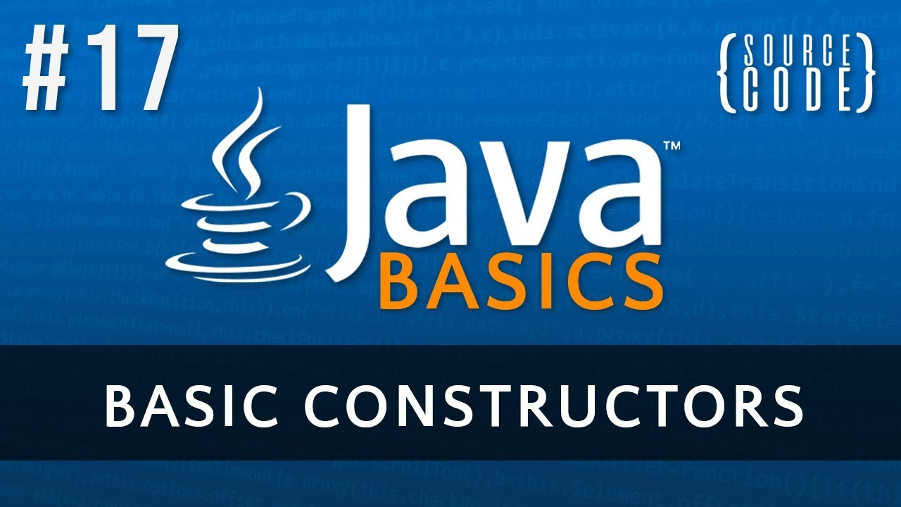 Java programming tutorial constructors episode 17 youtube java programming tutorial constructors episode 17 baditri Image collections