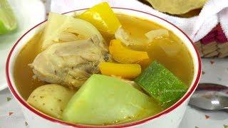 Caldo de Pollo con Verduras Fácil y Delicioso - Recetas en Casayfamiliatv