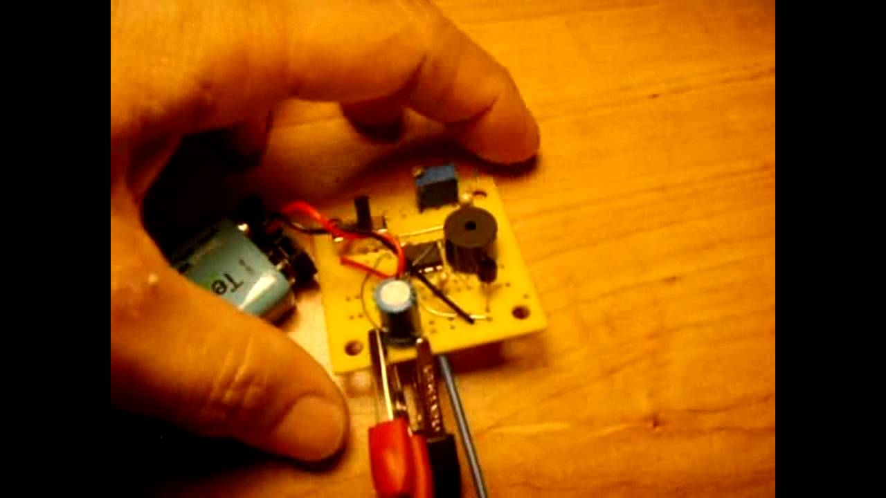 9V Sensitive Touch Alarm Circuit - YouTube