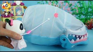 鯊魚先生肚子痛!妙妙小醫生快來救救他,鯊魚的肚子里有什麼呢?| 寶寶玩具 | 兒童玩具 | 玩具巴士