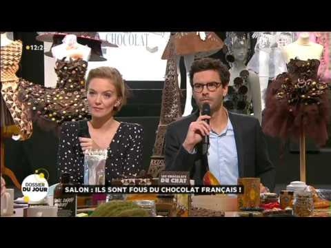 Salon du Chocolat 2014 - Nicolas Cloiseau - La quotidienne France 5 - La Maison du Chocolat