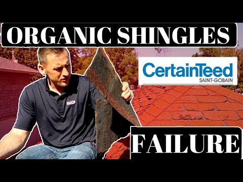 Asphalt Shingles Failures: Certanteed Organic Shingles (Billion Dollar loss)