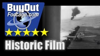 HD Historic Archival Stock Footage WWII - U.S. Plane Carrier Wins Thrilling Sea-Air Battle 1942