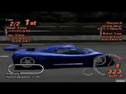 Gran Turismo 2 Tommykaira ZZII Test Course Replay - YouTube