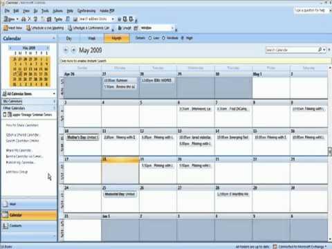 Sharing an Outlook Calendar