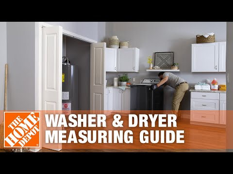 How To Measure For A New Washer & Dryer | The Home Depot