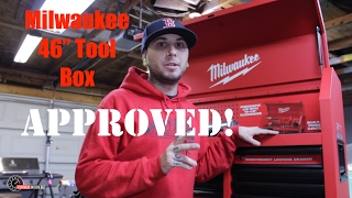 milwaukee 46 tool box is a great bang for your buck chest cabinet combo