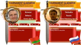 #41. Heroes 3. SoD. Browser vs Timbuktu. Финал нижней сетки. Турнир гладиатор! Arena FBA