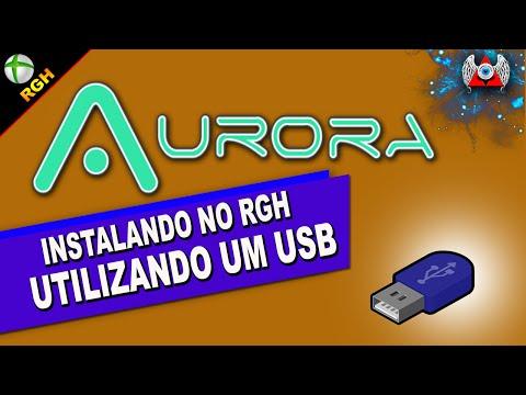 [360] • Instalando - Aurora - no RGH usando Pen Drive ou HD - USB