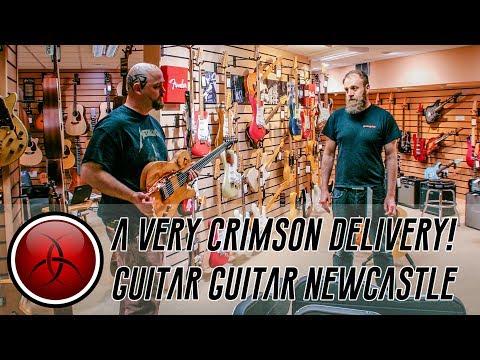 Crimson Guitars Visits Guitar Guitar, Newcastle!