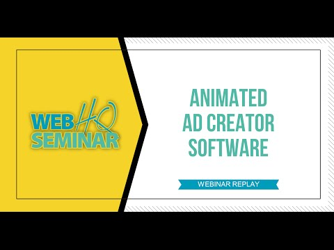 Animated Ad Creator Software Webinar Replay