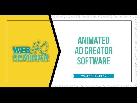 Animated Ad Creator Software Webinar Replay