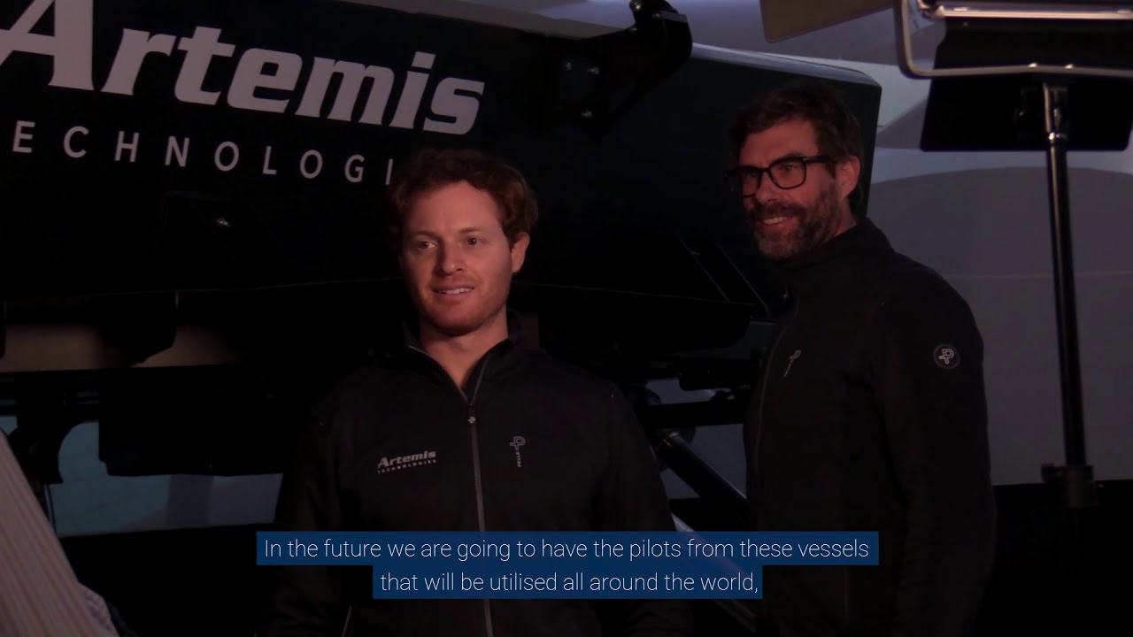 The mechanical hardware in the loop (mHIL) Simulator represents a multi-million pound investment over the past decade by Artemis Technologies and the Artemis Racing professional sailing team.  Iain Percy (CEO) and Philip Crain (Real-time Simulation Manager) explain how the mHIL Simulator will be used to streamline the digital twin development process and prototyping of the company's new technologies and vessels, as we as providing a unique training aid for high-performance sailing teams and commercial vessel operators.