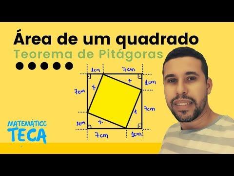 Área de um quadrado e Teorema de Pitágoras