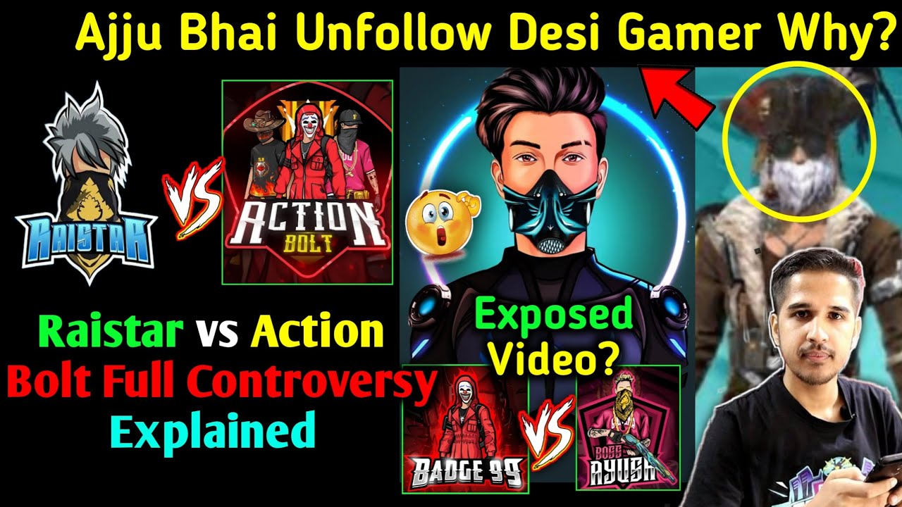 Raistar Vs Action Bolt CONTROVERSY 😱 Skylord Reply Badge99 vs Boss Ayush 😳 Total Gaming Desi Gamers