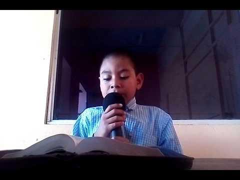 Niño de 11 años predicando en vivo en la Radio 9,80 AM de tocoa Honduras 504,98363554