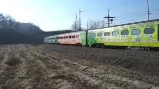 7355호 디젤기관차 부전발 태백행 와인인삼시네마열차