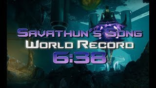 Destiny 2 - Savathun's Song World Record Speedrun [6:38]
