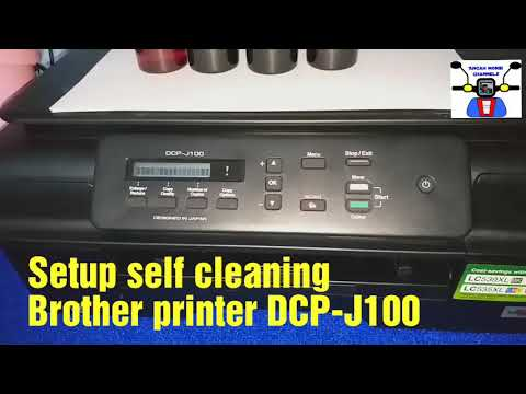 Setup BROTHER PRINTER DCP J100 self Cleaning