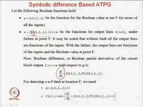 Mod-09 Lec-01 Introduction to Automatic Test Pattern Generation (ATPG) and ATPG Algebras