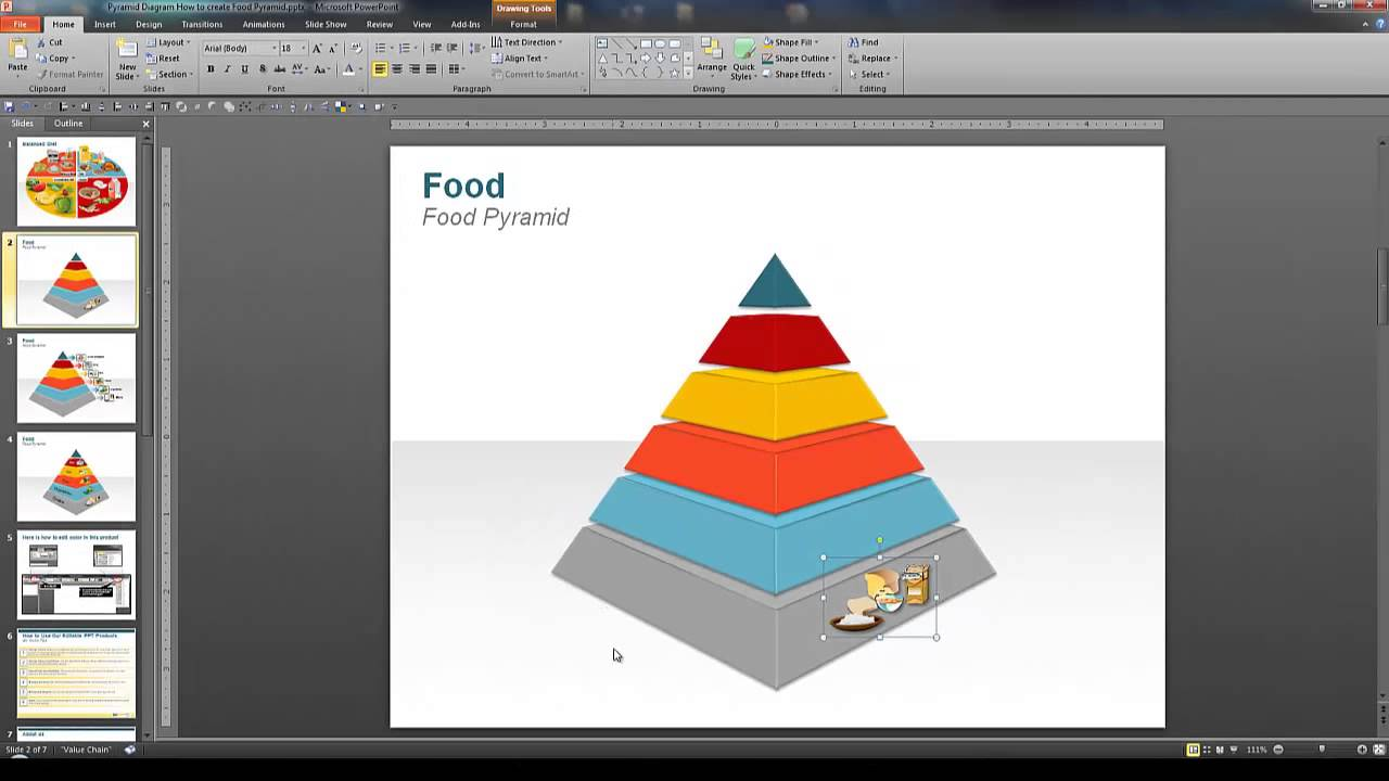 powerpoint pyramid diagram how to create food pyramid model pyramid diagram pyramid diagram #1