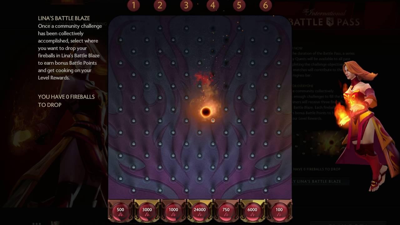 dota 2 battle pass compendium 2016 lina s battle blaze mini game