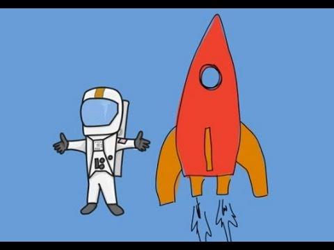 Мультики машинки - РАКЕТА-Космонавт - Раскраска для детей ...