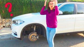 Mamãe perdeu a roda na BMW X5