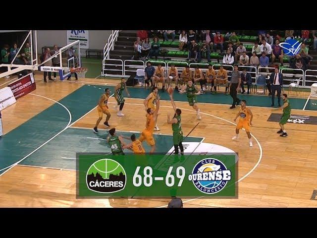 Resumen: Cáceres Patrimonio de la Humanidad - Club Ourense Baloncesto (LEB Oro 19/20)