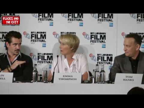 Saving Mr Banks Interviews - Tom Hanks, Emma Thompson, Colin Farrell, Ruth Wilson, John Lee Hancock