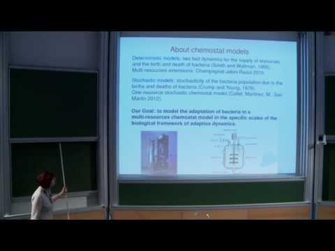 Sylvie Méléard - Stochastic modeling of Darwinian evolution in a chemostat