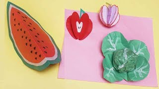 DIY #3D #Fruits With Paper - Diy Kids Crafts - Paper Fruits - Making Colour Paper