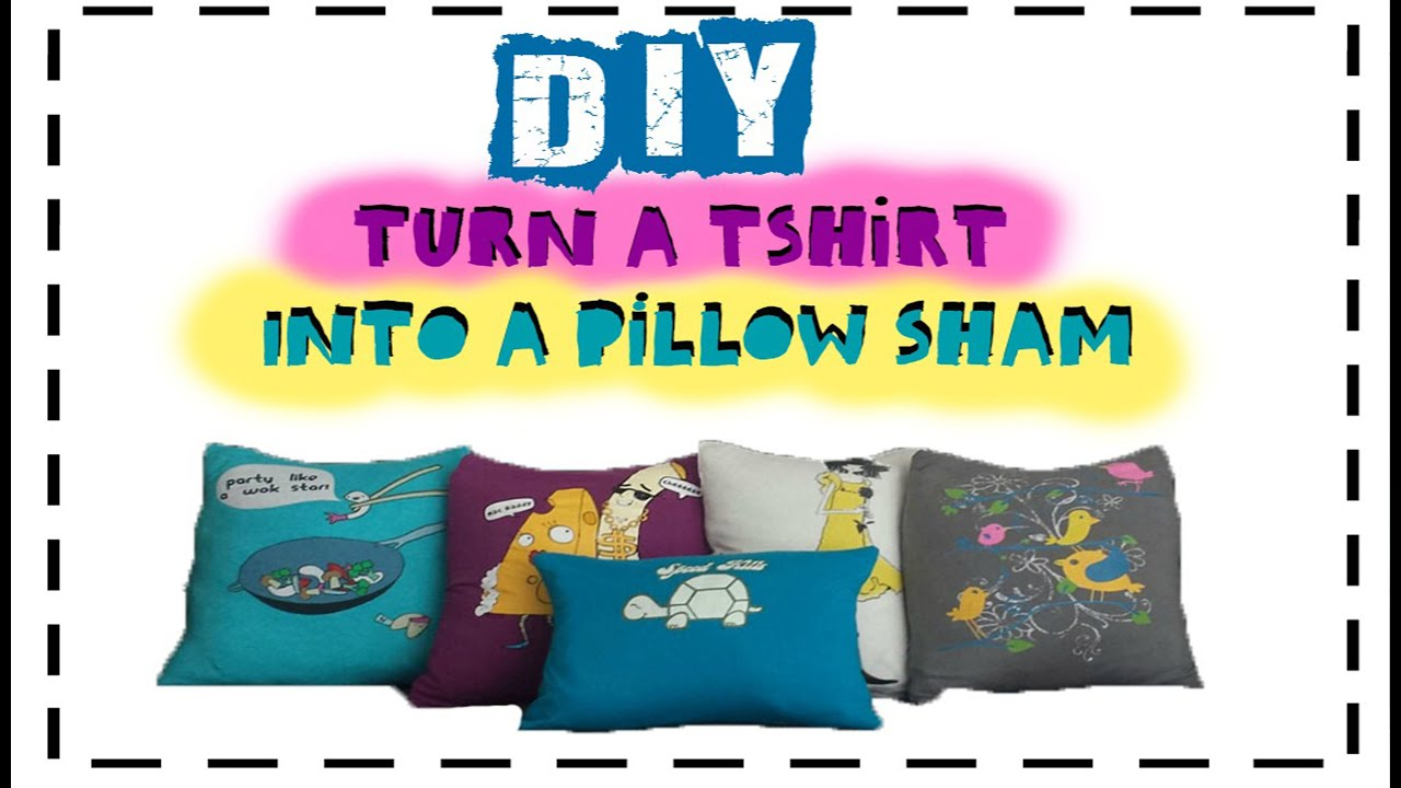 DIY Transform a T-Shirt into a Throw Pillowcase