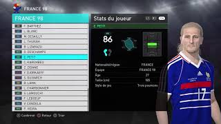 France 98 PES 2018 (Legends Classic)
