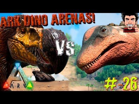 ARK Survival Evolved Titanosaur VS Dodorex Batalla Dinosaurios arena gameplay español