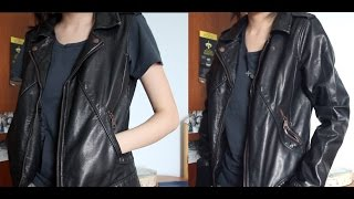 How To Cut A Leather Jacket Into A Leather Vest