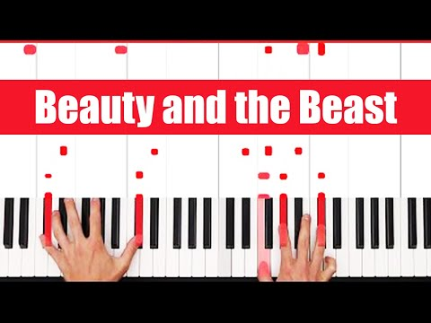 Beauty and the Beast Piano Tutorial Ariana Grande John - VOC