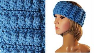 Повязка на голову крючком МК совместно с Натальей Зайцевой (Rukodelochka) #crochet
