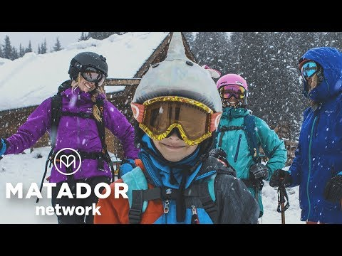 Finding great snow in Lake Louise...with a 7-year-old guide