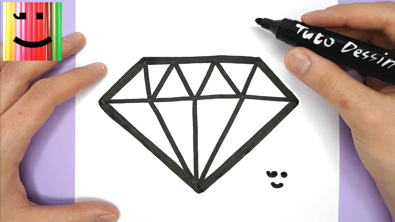 Comment Dessiner Et Colorier Un Diamant Facilement Dessin Pour Debutants Youtube