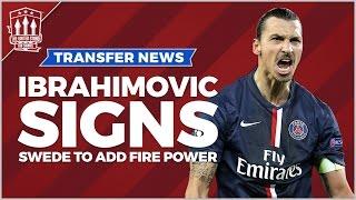 Zlatan Ibrahimović signs for Manchester United