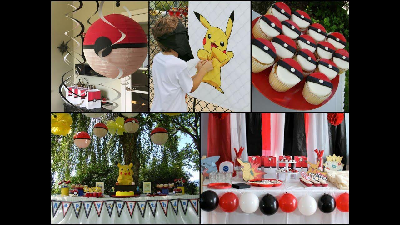 diy pokemon birthday party ideas youtube